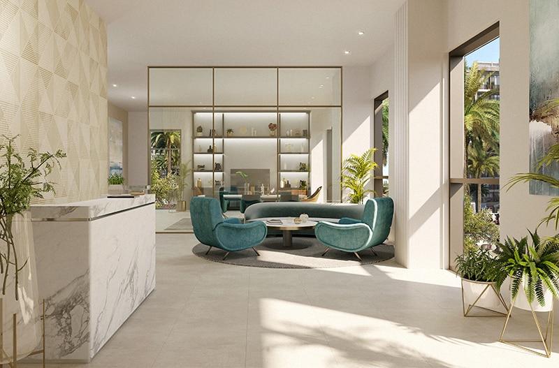Interior Summer by Emaar in Creek Beach. Luxury apartments for sale in Dubai