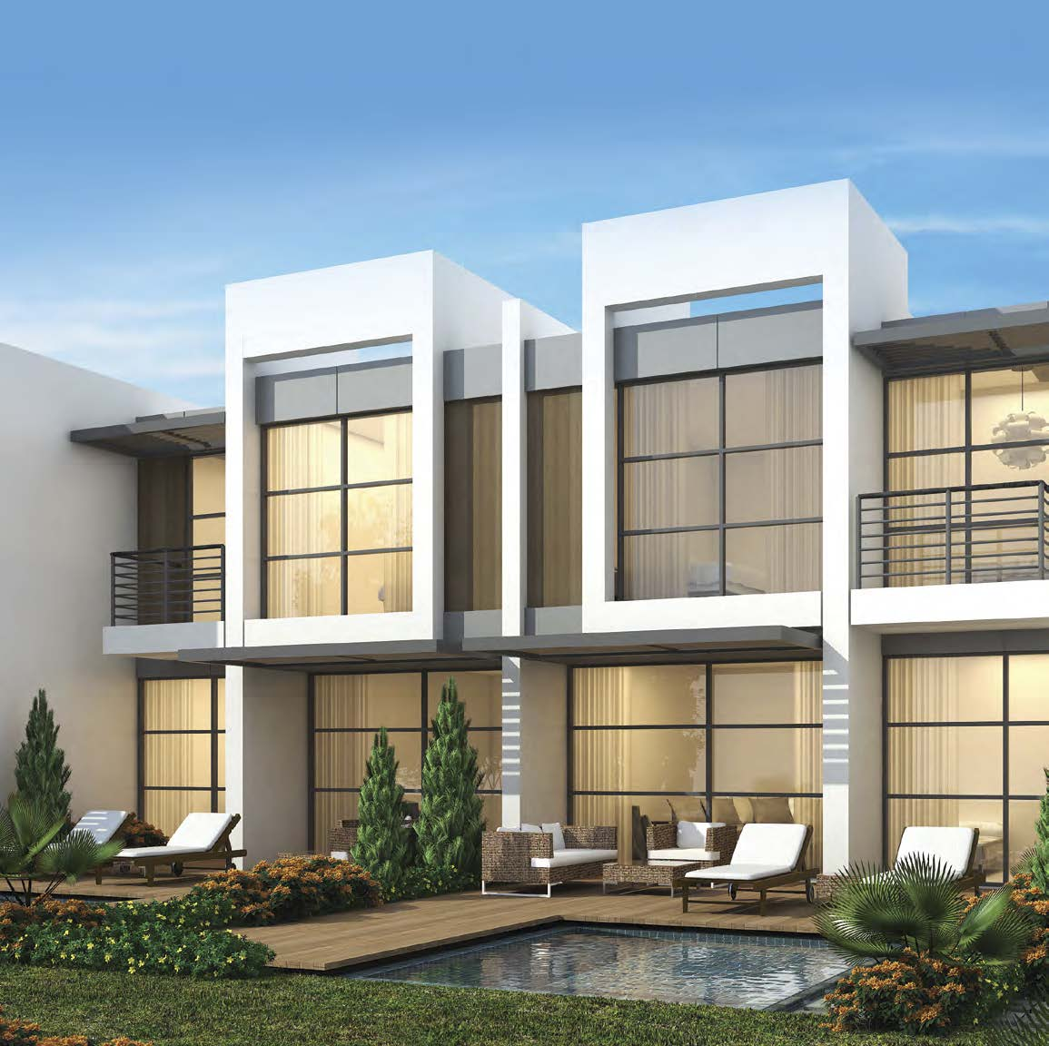 Casablanca Villas by Damac at Akoya. Luxury apartments for Sale in Dubai