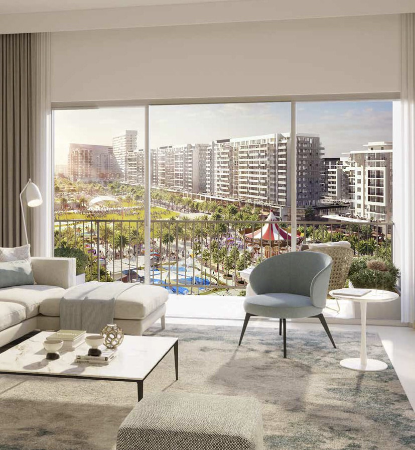RAWDA Park Views in Town Square Dubai by Nshama. Premium apartments for sale in Dubai