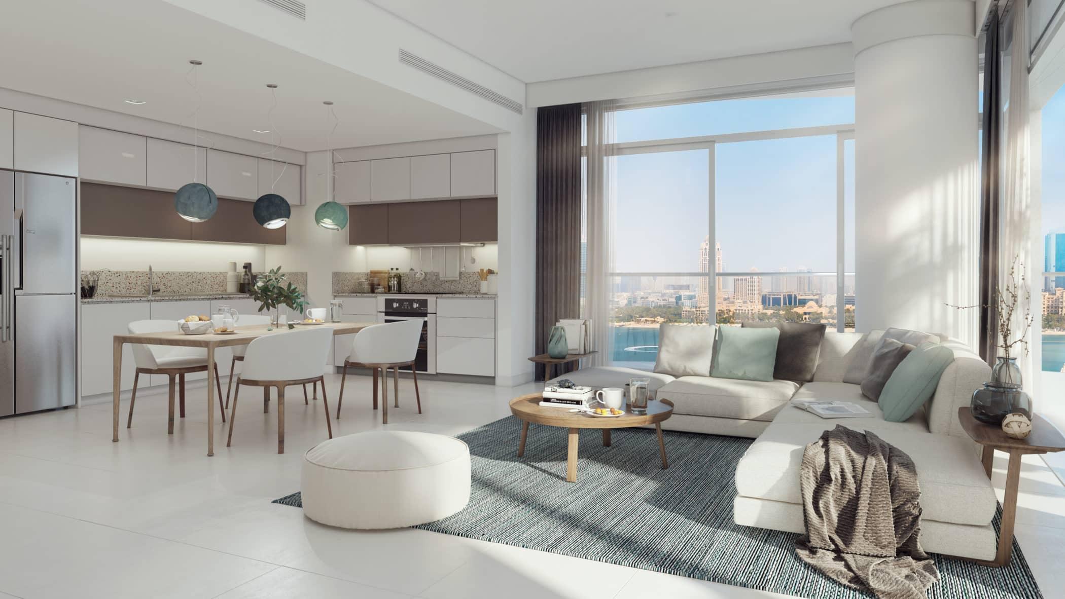 Marina Vista Villas by EMAAR in Emaar Beachfront, Dubai. Premium 3 and 4 bedroom villas for Sale in Dubai 3 2