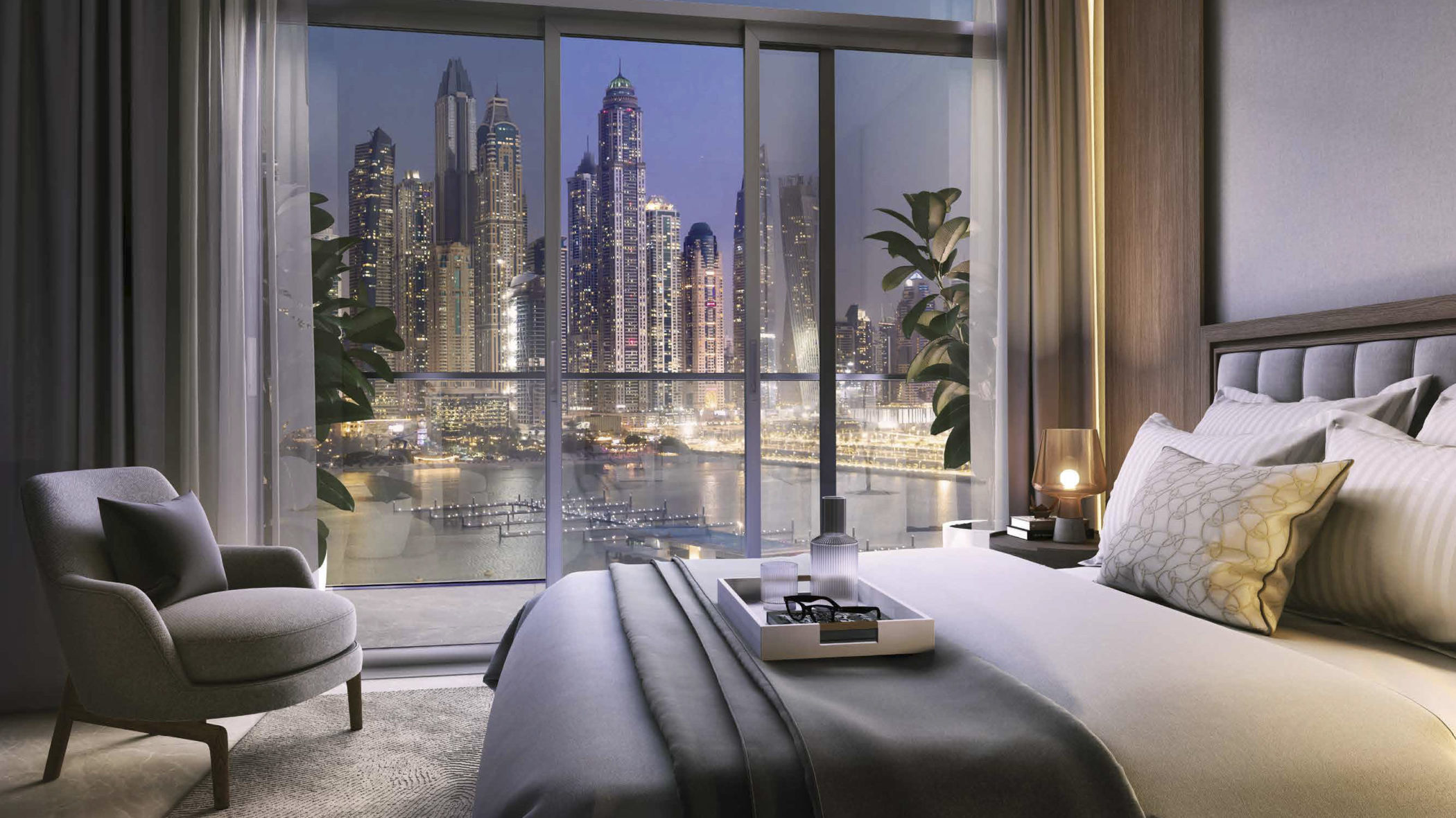 Palace Beach Residence by EMAAR at Emaar Beachfront. Premium 1, 2, 3 and 4 bedroom apartments, townhouses and penthouses for sale in Dubai.