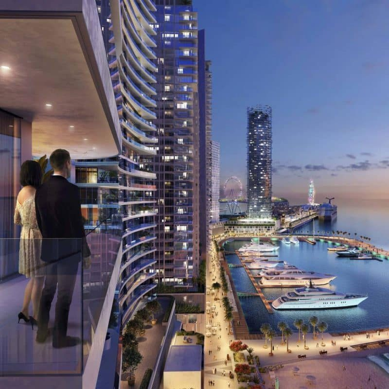 Beach Vista в Emaar Beachfront от EMAAR. Продажа недвижимости премиум-класса в Дубае