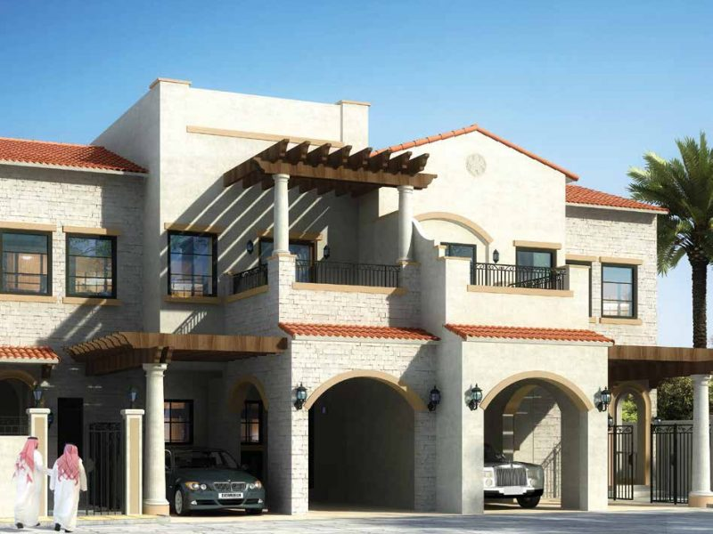 Bloom Garden in Eastern Mangrove Corniche by Bloom. Premium townhouses and villas for sale in Dubai
