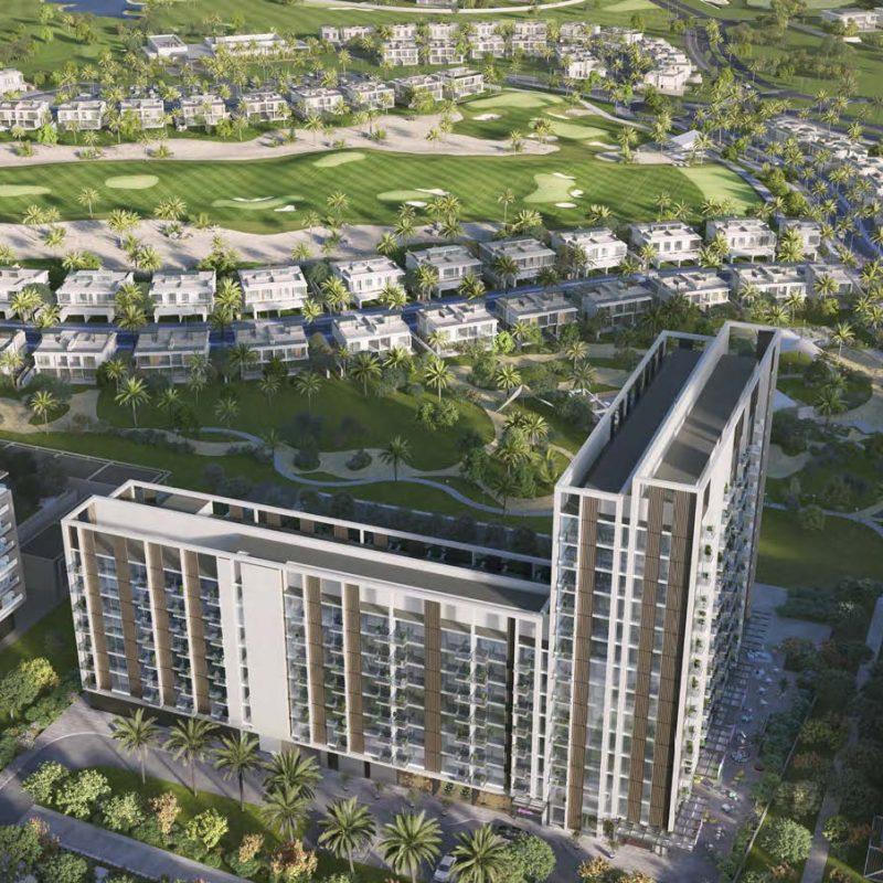 Exterior Golfville by Emaar in Dubai Hills Estate.