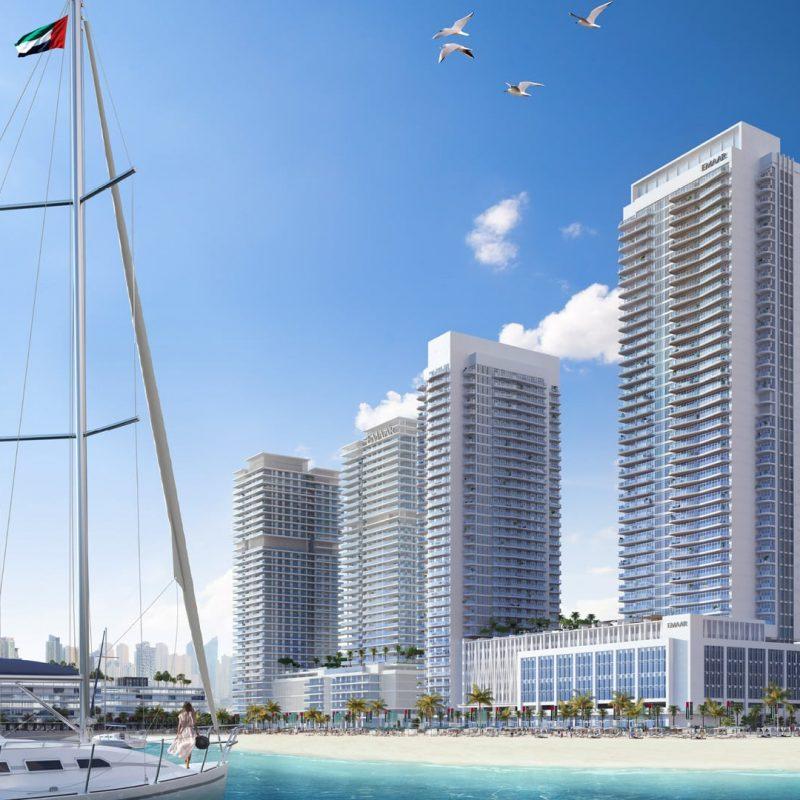 Marina Vista квартиры в Emaar Beachfront от Emaar. Продажа премиум квартир в Дубае