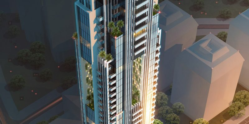 Regina Tower by Tiger Group at Jumeirah Village Circle. Luxury apartments for Sale in Dubai