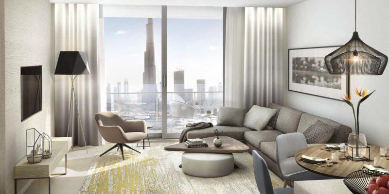 Interior Vida Residences Dubai Mall by Emaar at Downtown Dubai