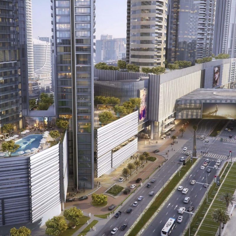 Exterior Vida Residences Dubai Mall by Emaar at Downtown Dubai.